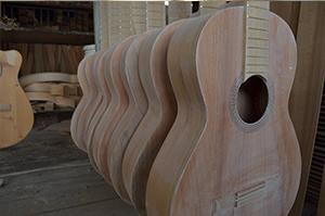 Proceso de producción de guitarras
